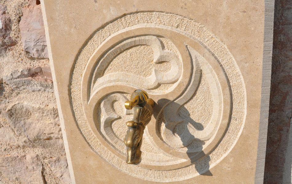 Détail fontaine gothique - Didier Ridet