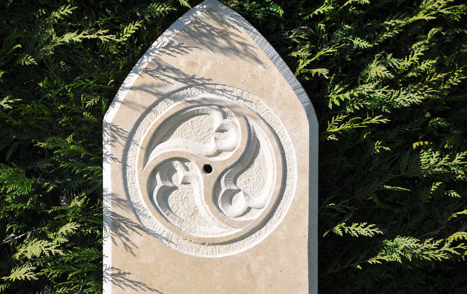 Détail fontaine gothique