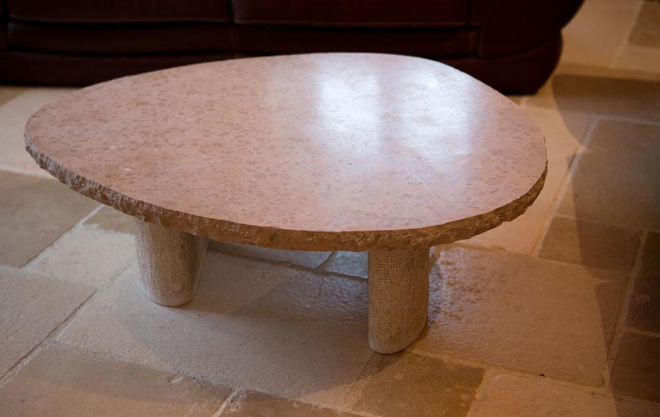 Table basse en pierre de Comblanchien - Didier Ridet