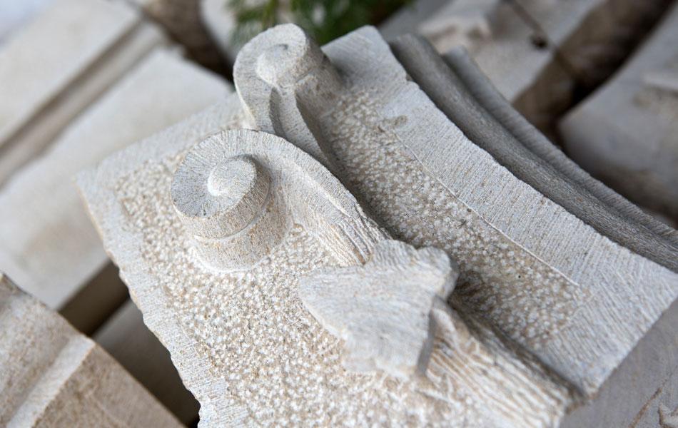 Détail voute en pierre de Bourgogne - Bourgogne sculpture