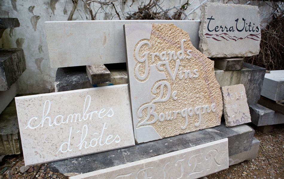 Gravures sur pierre - Didier Ridet