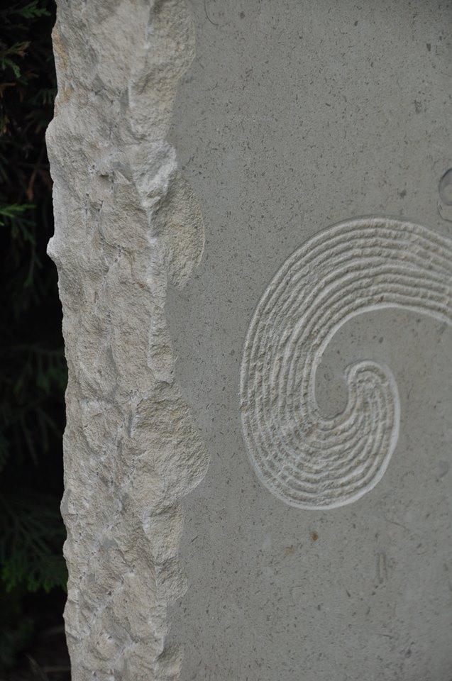 Gravure sur pierre de Massangis