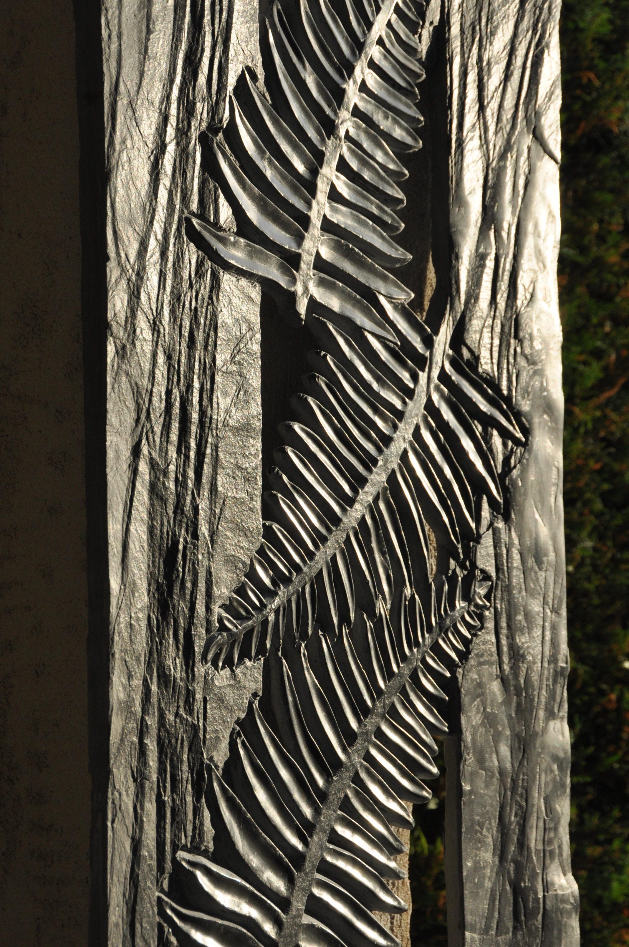 sculpture de fougères en ardoise d'espagne