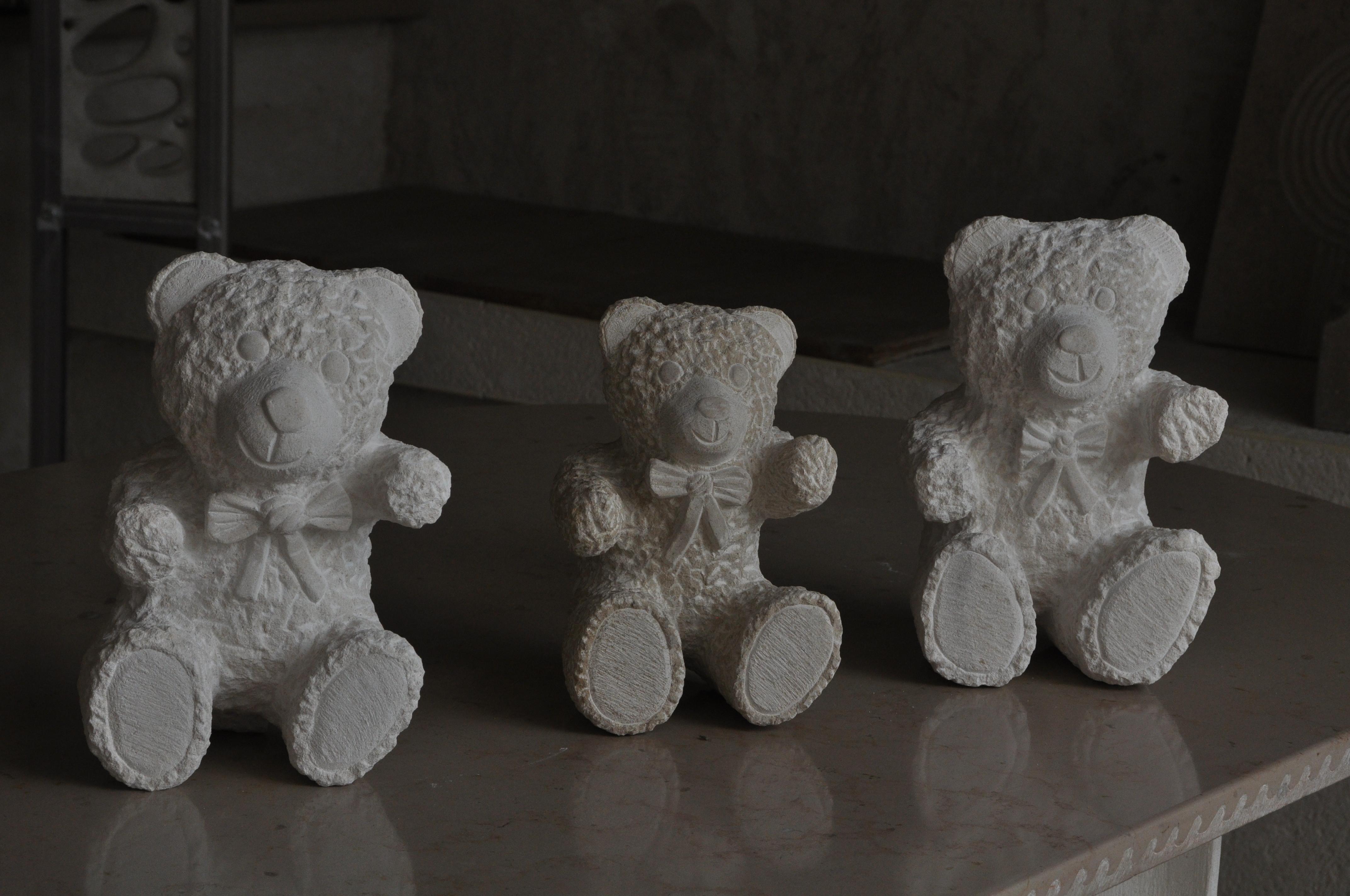 Nounours en pierre